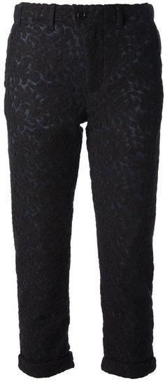 JULIEN DAVID Black Bouclé Cropped Trouser  - Lyst