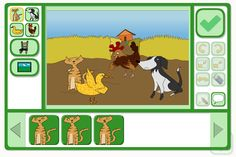An activity, from TES iboard, to re-tell (or re-write) a story, creating a sequence of scenes.