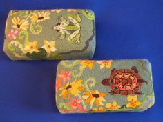 Frog and Turtle brick covers Canvases by Julie Mar
