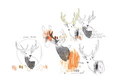SIKA DEER // limited edition // fathers day // by PinkPaperCircus, £25.00