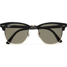 Ray-Ban Clubmaster Sunglasses | MR PORTER (7.360 UYU) ❤ liked on Polyvore featuring men's fashion, men's accessories, men's eyewear, men's sunglasses, sunglasses, accessories, glasses, fillers and ray ban mens sunglasses
