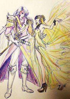 Kunzite and Venus 又换画风了ORZ。。。 by 夜枭 on pixiv