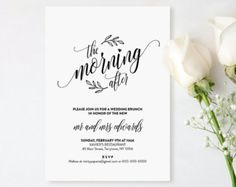 Gentil Printable Wedding Brunch Invitation Post Wedding Brunch