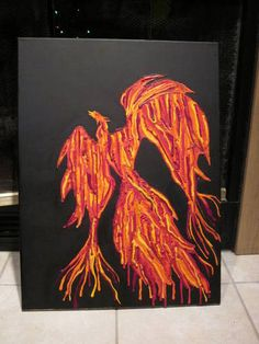 Whole new meaning to melted crayon art... damn!