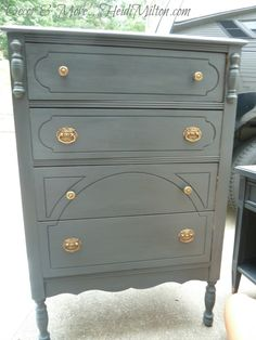 DIY Annie Sloan Graphite Furniture Makeovers