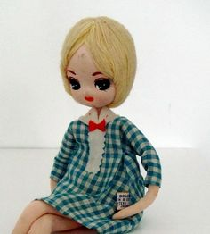 """""""Bradley"""" Dolls. Made in Japan, or Hong Kong. Precursor to BLYTHE --- big head, big eyes, each hand painted with an Asian 'anime' gleam in the eyes."""