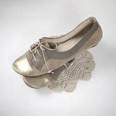 facc5372978 Oxfords Shoes Handmade Pastel and Gold Nude Blush Leather Laced Shoes