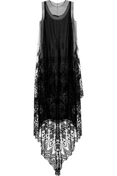 '1920's Style' Gothic Glamour Kelter embroidered tulle dress - by The Row
