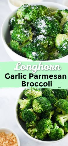 Move over roasted broccoli and make room for steamed broccoli. This longhorn steakhouse broccoli recipe is absolutely delicious and can be made in under 15 minutes. It's a garlic parmesan broccoli recipe and it is the perfect vegetable side dish. Seasoned Steamed Broccoli, Steamed Broccoli Recipes, Parmesan Broccoli, Broccoli Salad Bacon, Garlic Parmesan, Broccoli Cauliflower, Keto Broccoli Recipe, Spinach Dip
