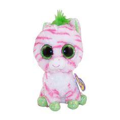 Sapphire the Zebra : Beanie Boos : Beaniepedia Big Eyed Stuffed Animals, Big Eyed Animals, Large Beanie Boos, Ty Beanie Boos, Kids Toy Store, New Kids Toys, Ty Peluche, Beanie Boo Birthdays, Random Kid
