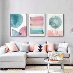 Colorful Warm Cosy Bedroom Wall Art Shades Of Pink Blue Jade . Colorful Warm Cosy Bedroom Shades Of Pink Blue Jade bedroom wall art - Wall Art Canvas Art Prints, Canvas Wall Art, Canvas Paintings, Pastel Paintings, 3 Piece Canvas Art, 3 Piece Wall Art, Kid Wall Art, Paintings For Kids Room, 3 Piece Painting