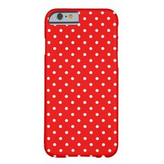 Red and White Polka Dots iPhone 6 Case