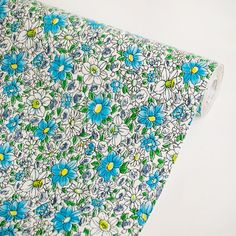 Flower Ocean Blue - Vinyl Self-Adhesive Wallpaper Prepasted Wall stickers Wall Decor (Swatch) $0.10
