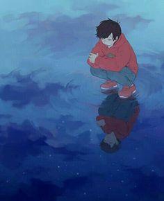 Osomatsu between reality and his deepest desires. Sad Anime, Anime Kawaii, Anime Manga, Anime Guys, Anime Art, Animé Fan Art, Osomatsu San Doujinshi, Pokemon, Ichimatsu