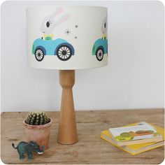 George Rabbit lampshade (cream) by Rebecca Sodergren.   A beautiful, scandi inspired lampshade.  Diameter 30cm, it can be made with either a lamp or pendant fitting.   Ideal for a child's nursery, bedroom or even a lovely feature for a stylish room. Matching cushion available!!  #Kids interiors  #children'sbedroom #nurseryideas  #lampshades #scandidesigns #matchinglampshadeandcushion
