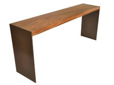 Solid Wood Tamburil Console - Metal Base - Dering Hall