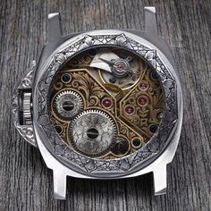 Amazing Full engraved Panerai Case and Movement by David Riccardo.