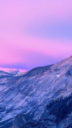 Pink sunset, sky, mountains, nature, 720x1280 wallpaper