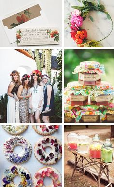 Boho Bridal Shower Inspiration A boho garden bridal shower is trend we're absolutely loving. It's a fresh and modern take on bohemian style. With vibrant colors Garden Bridal Showers, Chic Bridal Showers, Tea Party Bridal Shower, Garden Shower, Shower Party, Baby Showers, Bridal Shower Decorations, Diy Wedding Decorations, Shower Inspiration