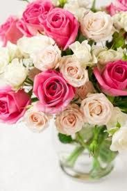 Wedding Flowers... Pink & White Roses (year-round)
