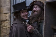 jonathan strange and mr norrell bbc. Enzo Cilent (Childremass) and Paul Kane (Vinculus)