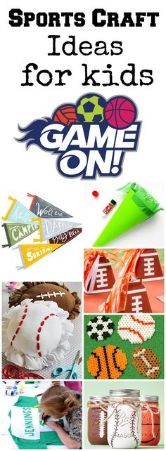 Looking for some fun craft ideas for the little sport fanatic in your life? Here's a collection of some fun sport themed DIY projects to keep kids entertained!