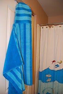 DIY hooded towel for my big boy
