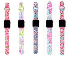 Floral Silicone Band Compatible with Apple Watch Band Women Sports Strap Replacement for Iwatch Band Series 4 3 2 1 Double Side Print Lilly Products Shoes-Accessories Products Accessories Phone Accessories Products Shoes-Accessories Products Plates Pr Old Watches, Apple Watch Bands, Simple Jewelry, Quartz Watch, Fashion Watches, Women Accessories, Watch Accessories, Jewelry Accessories, Inspired