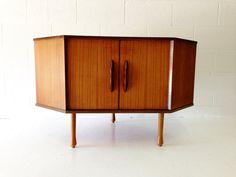 Mid Century Modern Corner Cabinet In Teak With Two By Dsartereno 29900