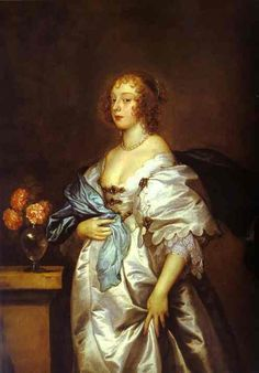 1638 Lady Borlase by Sir Anthonis van Dyck