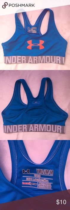 917823b0662cd Youth sport bra Under Armour youth size M sport bra. Royal blue. Never worn