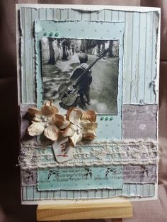 vintage shabby chic card with tape from the scrappery....