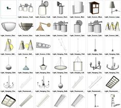 Sketchup Lighting 3D models download – CAD Design | Free CAD Blocks,Drawings,Details