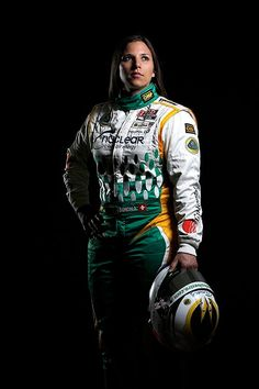 ST. PETERSBURG, FL - MARCH 07: 7: Simona de Silvestro of Switzerland, driver of the #78 Nuclear Clean Air Energy HVM Racing Lotus Dallara DW12 poses for a portrait at the Mahaffey Theater on March 7