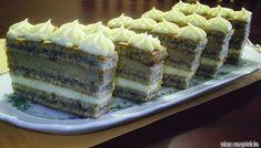 Érdekel a receptje? Kattints a képre! Hungarian Desserts, Hungarian Cake, Hungarian Recipes, Hungarian Food, Torte Cake, Cake Bars, Poppy Cake, Cookie Recipes, Dessert Recipes