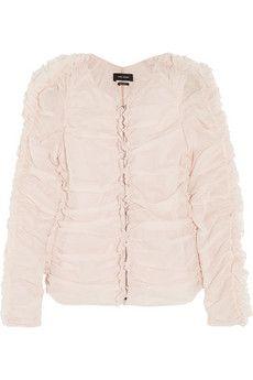 Isabel Marant Landen gathered cotton-voile jacket   NET-A-PORTER