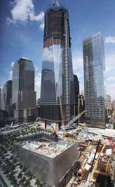 New World Trade Center under construction.