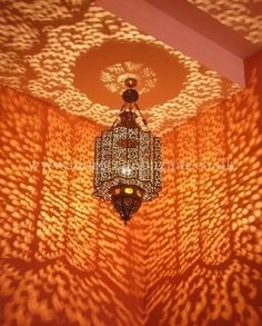 Moroccan Ceiling Lamp - casts beautiful shadows