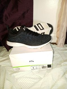 Apl Techloom Phantom athletic shoes Black & iridescent Box says size 9 but EU 40, which is technically a 9.5, which is why I'm selling these. They are awesome shoes but I'm an 8 and literally kept tripping myself. Didn't wear them more than 2 times and I added my own bzees insoles on top of the ones inside so my feet never touched the foot bed. * Check out my closet for more  Lululemon 4 Less  Along with Athleta Lucky Lucy Zella prAna The North Face Patagonia bKE Columbia  AND MORE  FOR… Apl Shoes, Awesome Shoes, Patagonia, Iridescent, Black Shoes, Columbia, The North Face, Lululemon, Athletic Shoes