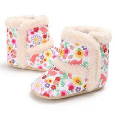 e211d35a394 Raise Young Woolen Cartoon Elk Winter Warm Newborn Baby Girl Boots ...