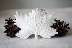 White Leaf Ornament by toriejayne, via Flickr