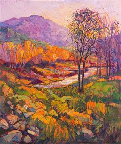 Wine Country landscape oil painting by Erin Hanson
