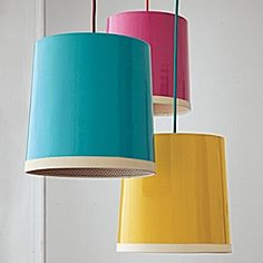 Try these vibrant pendants as reading lights flanking a bed instead of the standard table lamps.
