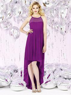 Sleeveless Chiffon Empire Purple Spaghetti Zipper-Back Floor-length Straps A-line Ruched-Ruffles Bridesmaid Dress