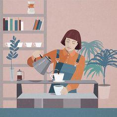 #barista  #coffeeillustration #coffee #coffeelover #moka #expresso #espresso #breakfast #creativity #inspiration #art #artist #visualart #artwork #illustration #illustrator #editorialillustration #design #graphicdesign #drawing #painting #type #typography #vector @picame #picame #thedesigntip @thedesigntip #kinfolk @intelligentsiacoffee #intelligentsiacoffee #irinakruglova #topcreator