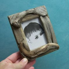 Small Driftwood Picture Frame 2.5 x 3.5 beach by blackeyedsusan, $22.00