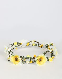 Double Wired Flower Crown - Yellow – 2020AVE