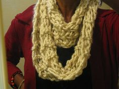 Basic cowl garther seed stitch by TaraThings on Etsy.  This item has been sold.