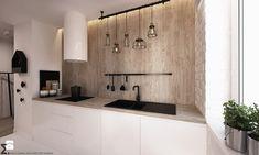 Apartament WBW - Mała otwarta kuchnia jednorzędowa w aneksie, styl industrialny - zdjęcie od ELEMENTY