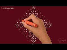 Simple flower rangoli Daily Rangoli Flower Kolam Flower Muggulu with dots Big Rangoli Designs, Small Rangoli Design, Simple Flower Rangoli, Simple Flowers, Indian Rangoli, Kolam Rangoli, Rangoli With Dots, Drawing For Kids, Blouse Designs